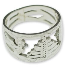 <strong>Novica</strong> The Pedro Silva Sterling Silver Band Ring