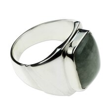 The Gabriel Silva Men's Sterling Silver Jade Ring