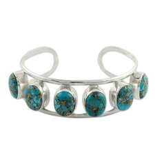 The Shanker Composite Turquoise Cuff Bracelet