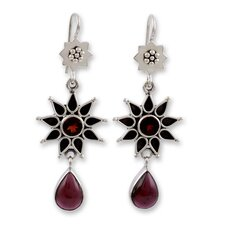 The Neeru Goel Garnet Dangle Earrings