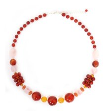 The Anusara Sterling Silver Gemstone Beaded Necklace
