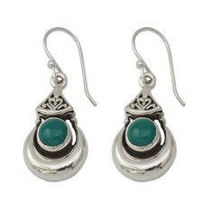 <strong>Novica</strong> The Shanker Turquoise Dangle Earrings