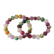 The Cynthia Danquah Beaded Stretch Bracelets