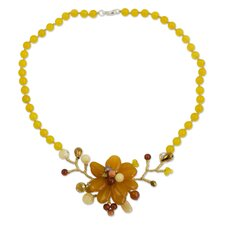 The Nareerat Carnelian Flower Necklace