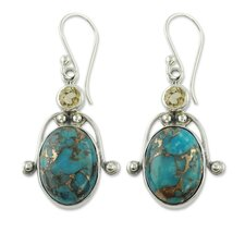 The Shanker Gemstone Dangle Earrings