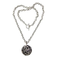 The Ngurah Gede Sterling Silver Pendant Necklace