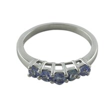 The Siddharth Sterling Silver Tanzanite Band Ring