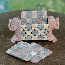 The Raj Kumari Soapstone Coaster Set