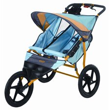 Run Around Double Jogging Stroller in Teal Blue