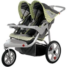 Safari Swivel Wheel Double Stroller