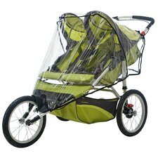 Double Fixed Wheel Stroller Weather Shield Cover