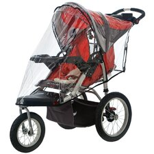 Single Swivel Wheel Stroller Weather Shield Cover
