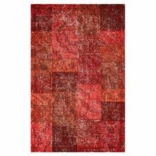 Hides Red Patchwork Rug