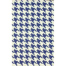 Trellis Regal Blue Houndstooth Rug