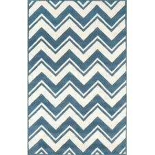 Gradient Blue/White Soni Area Rug