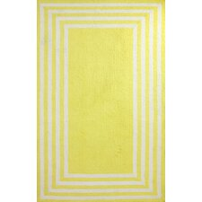 Block Yellow Island Klauss Faux Area Rug