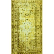 Remade Overdyed Funky Yellow Chroma Overdyed Style Rug