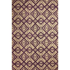 Novel Purple Imture Indoor/Outdoor Area Rug