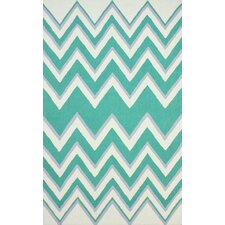 Heritage Prudence Green Chevron Area Rug