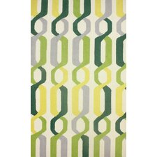 Novel Green Ightus Area Rug