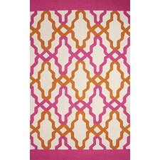 Novel Pink Franca Indoor / Outdoor Area Rug