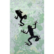Tulon Mint Froggy Rug