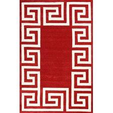 Filigree Red/White Santorini Area Rug