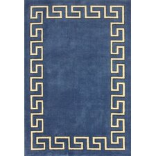 Block Island Blue Hanz Faux Area Rug