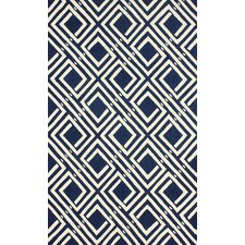 Barcelona Navy/White Jarred Area Rug