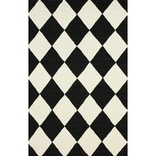 Heritage Daniel Black/White Geometric Area Rug