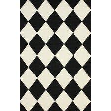 Heritage Daniel Black & White Geometric Area Rug
