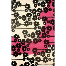 Europe Fuschia Filigree Rug