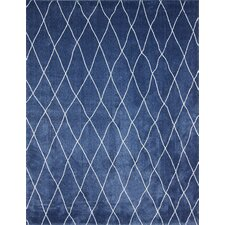 Shaggy Dark Blue Casablanca Rug