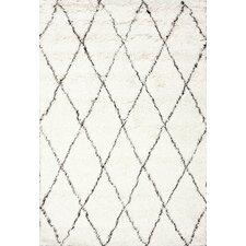 Moderna Ivory Moroccan Shag Area Rug