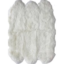 Shag White Area Rug II