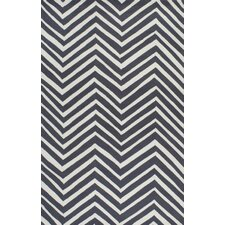 Trellis Charcoal Chevron Area Rug