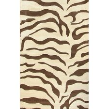 <strong>nuLOOM</strong> Safari Zebra Brown Rug