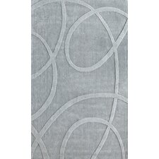 Gradient Light Grey Loops Area Rug