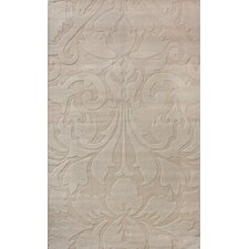 Gradient Sand Damask Area Rug