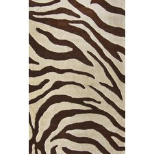 Earth Safari Brown Area Rug