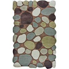 Pebbles Pebbles Brown Area Rug