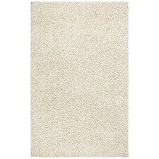 Shag White Area Rug I