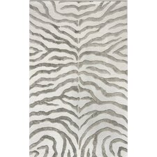 Earth Safari Zebra Grey Area Rug
