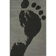 Cine Slate Foot Print Area Rug