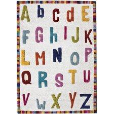 Kinder Educational Letters Ivory Area Rug