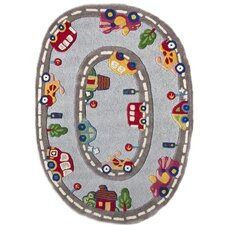 Kinder Streets Ride Gray Area Rug