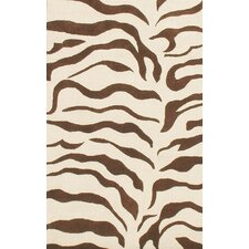 Earth Zebra Print Brown Area Rug