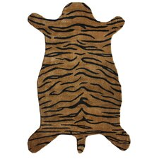 Safari Tiger Brown Area Rug