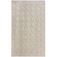 Gradient Houndstooth Texture Ivory Rug