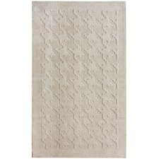 Gradient Ivory Houndstooth Texture Area Rug